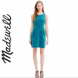 Madewell Blue Pocketed Midi Sheath Dress Size XL